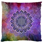 Flower Of Life Indian Ornaments Mandala Universe Large Cushion Case (One Side) Front
