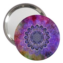Flower Of Life Indian Ornaments Mandala Universe 3  Handbag Mirrors by EDDArt