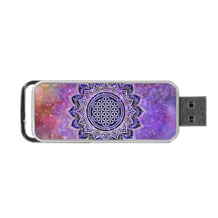 Flower Of Life Indian Ornaments Mandala Universe Portable USB Flash (One Side)