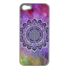 Flower Of Life Indian Ornaments Mandala Universe Apple Iphone 5 Case (silver)