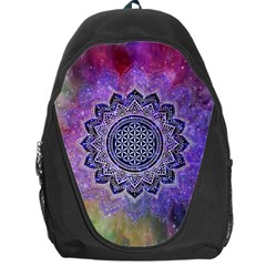Flower Of Life Indian Ornaments Mandala Universe Backpack Bag