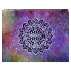 Flower Of Life Indian Ornaments Mandala Universe Cosmetic Bag (xxxl)