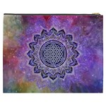 Flower Of Life Indian Ornaments Mandala Universe Cosmetic Bag (XXXL)  Back