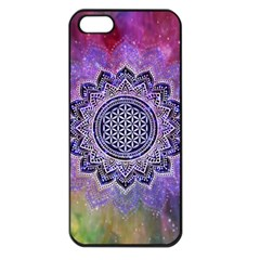 Flower Of Life Indian Ornaments Mandala Universe Apple Iphone 5 Seamless Case (black) by EDDArt