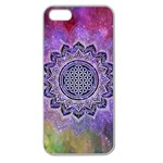 Flower Of Life Indian Ornaments Mandala Universe Apple Seamless iPhone 5 Case (Clear) Front