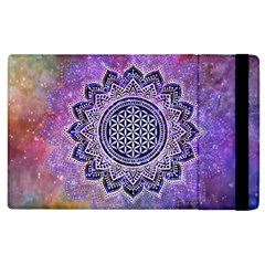 Flower Of Life Indian Ornaments Mandala Universe Apple Ipad 2 Flip Case by EDDArt