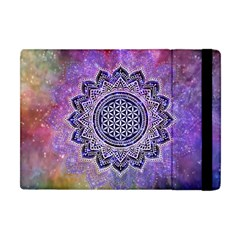 Flower Of Life Indian Ornaments Mandala Universe Apple Ipad Mini Flip Case by EDDArt