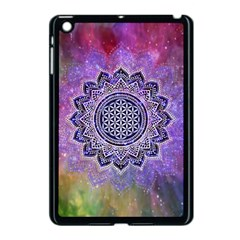 Flower Of Life Indian Ornaments Mandala Universe Apple Ipad Mini Case (black) by EDDArt