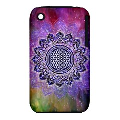 Flower Of Life Indian Ornaments Mandala Universe Apple Iphone 3g/3gs Hardshell Case (pc+silicone)