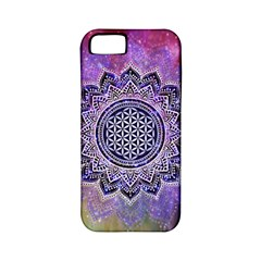 Flower Of Life Indian Ornaments Mandala Universe Apple Iphone 5 Classic Hardshell Case (pc+silicone)