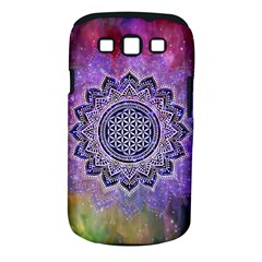 Flower Of Life Indian Ornaments Mandala Universe Samsung Galaxy S Iii Classic Hardshell Case (pc+silicone) by EDDArt