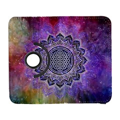 Flower Of Life Indian Ornaments Mandala Universe Samsung Galaxy S  Iii Flip 360 Case by EDDArt