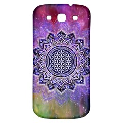 Flower Of Life Indian Ornaments Mandala Universe Samsung Galaxy S3 S Iii Classic Hardshell Back Case by EDDArt