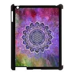 Flower Of Life Indian Ornaments Mandala Universe Apple Ipad 3/4 Case (black)