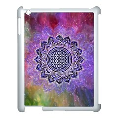 Flower Of Life Indian Ornaments Mandala Universe Apple Ipad 3/4 Case (white)