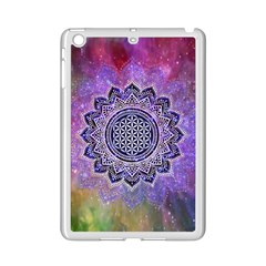Flower Of Life Indian Ornaments Mandala Universe Ipad Mini 2 Enamel Coated Cases by EDDArt