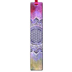 Flower Of Life Indian Ornaments Mandala Universe Large Book Marks by EDDArt