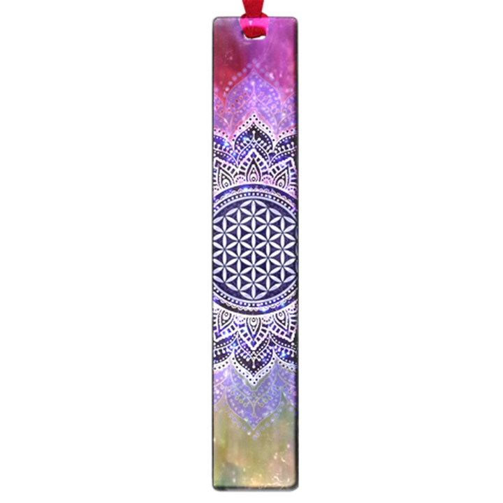 Flower Of Life Indian Ornaments Mandala Universe Large Book Marks
