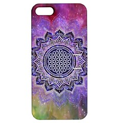 Flower Of Life Indian Ornaments Mandala Universe Apple Iphone 5 Hardshell Case With Stand by EDDArt