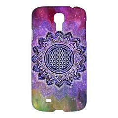 Flower Of Life Indian Ornaments Mandala Universe Samsung Galaxy S4 I9500/i9505 Hardshell Case by EDDArt