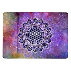 Flower Of Life Indian Ornaments Mandala Universe Samsung Galaxy Tab 10 1  P7500 Flip Case