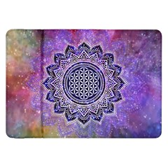 Flower Of Life Indian Ornaments Mandala Universe Samsung Galaxy Tab 8 9  P7300 Flip Case