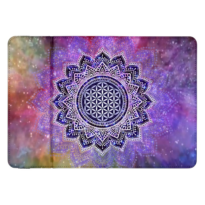 Flower Of Life Indian Ornaments Mandala Universe Samsung Galaxy Tab 8.9  P7300 Flip Case