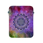 Flower Of Life Indian Ornaments Mandala Universe Apple iPad 2/3/4 Protective Soft Cases Front