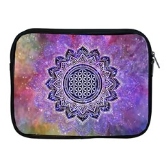 Flower Of Life Indian Ornaments Mandala Universe Apple Ipad 2/3/4 Zipper Cases by EDDArt