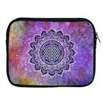 Flower Of Life Indian Ornaments Mandala Universe Apple iPad 2/3/4 Zipper Cases Front