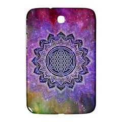 Flower Of Life Indian Ornaments Mandala Universe Samsung Galaxy Note 8 0 N5100 Hardshell Case  by EDDArt