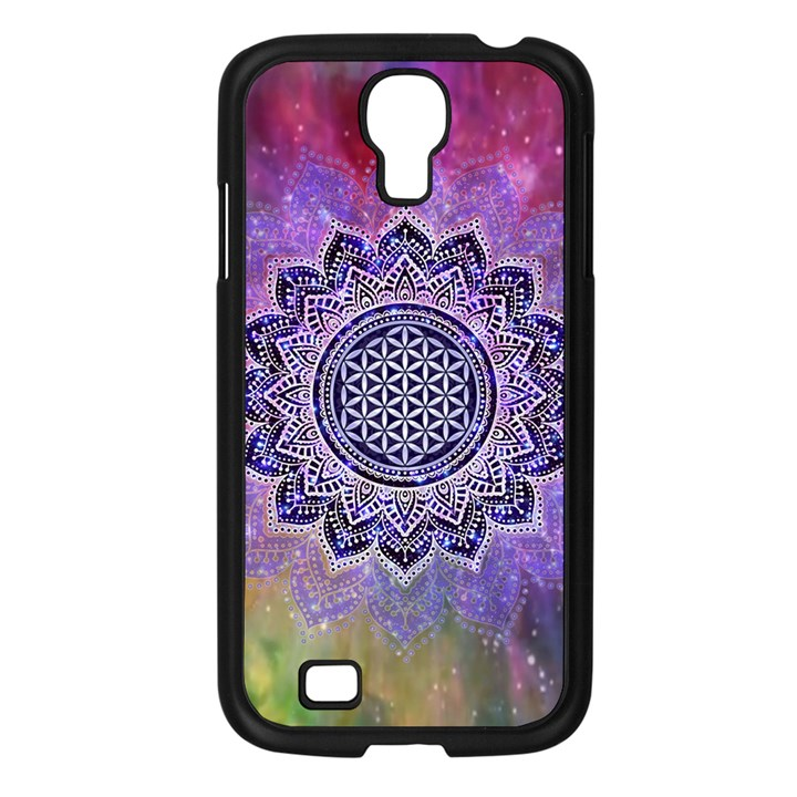 Flower Of Life Indian Ornaments Mandala Universe Samsung Galaxy S4 I9500/ I9505 Case (Black)