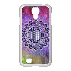Flower Of Life Indian Ornaments Mandala Universe Samsung Galaxy S4 I9500/ I9505 Case (white)