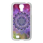 Flower Of Life Indian Ornaments Mandala Universe Samsung GALAXY S4 I9500/ I9505 Case (White) Front