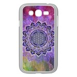 Flower Of Life Indian Ornaments Mandala Universe Samsung Galaxy Grand DUOS I9082 Case (White) Front