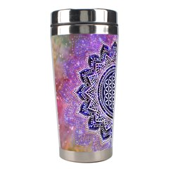 Flower Of Life Indian Ornaments Mandala Universe Stainless Steel Travel Tumblers by EDDArt