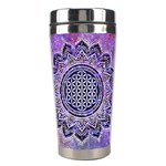 Flower Of Life Indian Ornaments Mandala Universe Stainless Steel Travel Tumblers Center