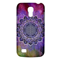 Flower Of Life Indian Ornaments Mandala Universe Galaxy S4 Mini by EDDArt