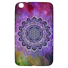 Flower Of Life Indian Ornaments Mandala Universe Samsung Galaxy Tab 3 (8 ) T3100 Hardshell Case  by EDDArt
