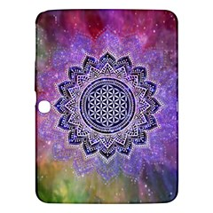 Flower Of Life Indian Ornaments Mandala Universe Samsung Galaxy Tab 3 (10 1 ) P5200 Hardshell Case  by EDDArt