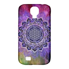 Flower Of Life Indian Ornaments Mandala Universe Samsung Galaxy S4 Classic Hardshell Case (pc+silicone) by EDDArt