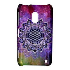 Flower Of Life Indian Ornaments Mandala Universe Nokia Lumia 620 by EDDArt