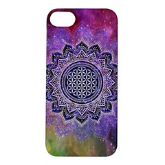 Flower Of Life Indian Ornaments Mandala Universe Apple Iphone 5s/ Se Hardshell Case by EDDArt