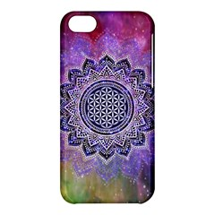 Flower Of Life Indian Ornaments Mandala Universe Apple Iphone 5c Hardshell Case