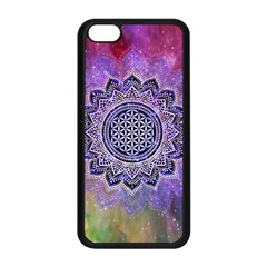 Flower Of Life Indian Ornaments Mandala Universe Apple Iphone 5c Seamless Case (black) by EDDArt