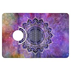 Flower Of Life Indian Ornaments Mandala Universe Kindle Fire Hdx Flip 360 Case by EDDArt