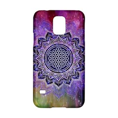 Flower Of Life Indian Ornaments Mandala Universe Samsung Galaxy S5 Hardshell Case  by EDDArt
