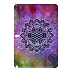 Flower Of Life Indian Ornaments Mandala Universe Samsung Galaxy Tab Pro 10 1 Hardshell Case by EDDArt