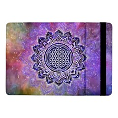 Flower Of Life Indian Ornaments Mandala Universe Samsung Galaxy Tab Pro 10 1  Flip Case