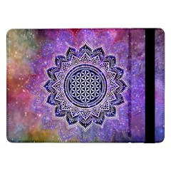 Flower Of Life Indian Ornaments Mandala Universe Samsung Galaxy Tab Pro 12 2  Flip Case